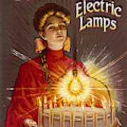 Rashleigh Electric Lamps         Date Art Print