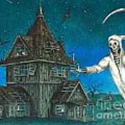 Reaper At Midnight Art Print
