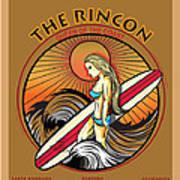 Rincon Ventura California Surfing Print by Larry Butterworth