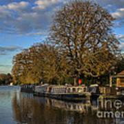 River Thames At Sandford Lock Art Print
