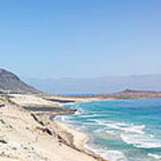 Road And Beaches Of Sao Vicente Cape Verde Art Print
