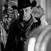 Robert Mitchum Lights Young Billy Young Set  Old Tucson Art Print