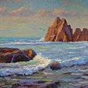 Rocks West Coast Art Print by Terry Perham
