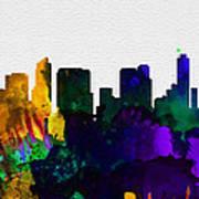 San Diego City Skyline Art Print