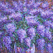 Scented Lilacs Bouquet Art Print