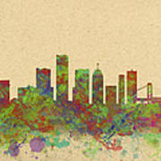 Skyline Of Detroit Usa Art Print