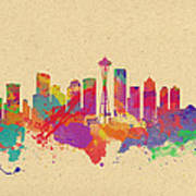 Skyline Of Seattle  Usa Art Print