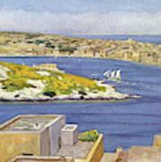 Sliema  A Suburb Of Valletta,  Popular Art Print