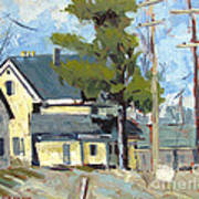 Sold Wabash Indiana Home Print by Charlie Spear