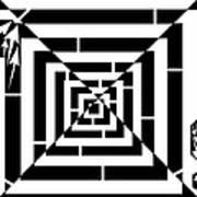 Spin Art Off Set Targeting Maze  Art Print