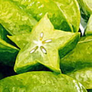 Star Fruit Carambola Art Print