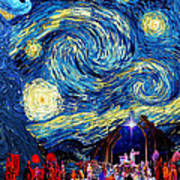 Starry Night In Bethlehem Art Print