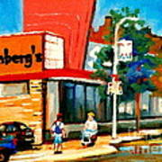 Steinbergs Grocery Store Paintings Vintage Montreal Art Order Prints Originals Commissions Cspandau Art Print