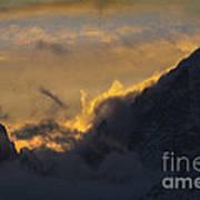 Sunset Peaks Art Print