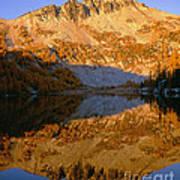 Switchback Peak On Cooney Lake Art Print