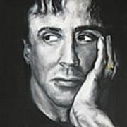 Sylvester Stallone Art Print