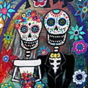 Te Amo Wedding Dia De Los Muertos Art Print