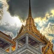 Temple Roof Art Print