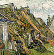 Thatched Cottages In Chaponval Art Print
