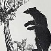 The Bear And The Fox Art Print