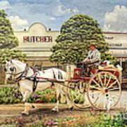 The Butchers Cart Print by Trudi Simmonds