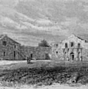 The Exterior Of The Alamo         Date Art Print