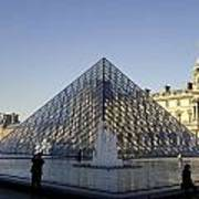 The Glass Pyramid Of The Musee Du Louvre In Paris France Art Print