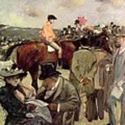 The Horse Race Art Print by Jean Louis Forain