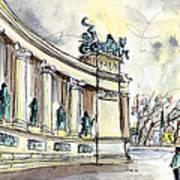 The Millennium Monument In Budapest Art Print