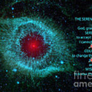 The Serenity Prayer Helix Nebula. Art Print