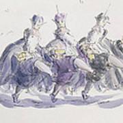Three Kings Dancing A Jig Art Print