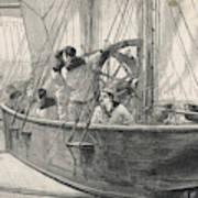 Training Naval Cadets On A  Swinging Art Print