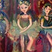 Victorian Christmas Ballet Art Print