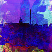 Washington Dc Watercolor Skyline 2 Art Print