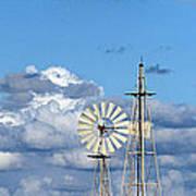 Water Windmills Art Print by Stelios Kleanthous