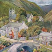 Yorkshire Scenery Muker In Swaledale Art Print