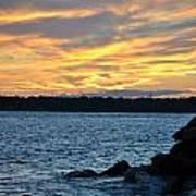 001 Awe In One Sunset Series At Erie Basin Marina Art Print