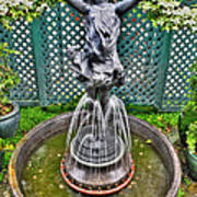 001 Fountain Buffalo Botanical Gardens Series Art Print
