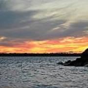 0011 Awe In One Sunset Series At Erie Basin Marina Art Print