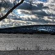 0013 Grand Island Bridge Series Art Print