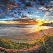0014 Awe In One Sunset Series At Erie Basin Marina Art Print