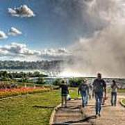 0014 Niagara Falls Misty Blue Series Art Print