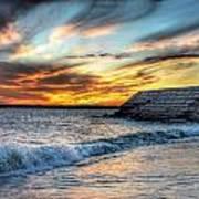 0016 Awe In One Sunset Series At Erie Basin Marina Art Print