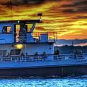 0017 Awe In One Sunset Series At Erie Basin Marina Art Print