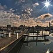 002 Erie Basin Marina D Dock Art Print
