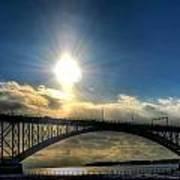 002 Peace Bridge In Passing  Art Print
