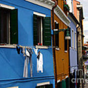 0049 Burano Colors 4 Art Print