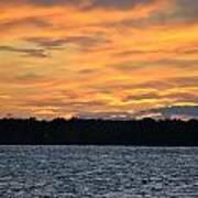 006 Awe In One Sunset Series At Erie Basin Marina Art Print