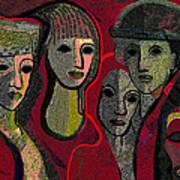 006 - Women And Masks ...  Art Print