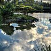 007 Delaware Park Japanese Garden Mirror Lake Series Art Print